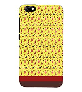 PrintDhaba Boat pattern D-1849 Back Case Cover for HUAWEI HONOR 4X (Multi-Coloured)