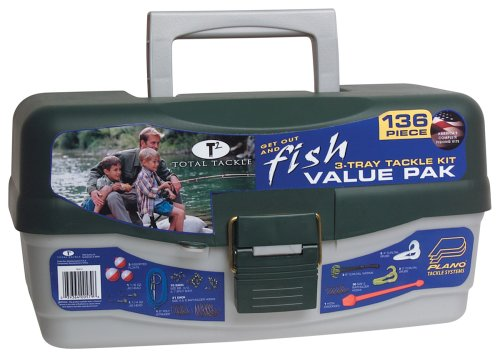 South Bend Tackle Box - 3 Tray  136 Piece Tackle