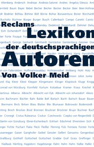 Reclams Lexikon der deutschsprachigen Autoren