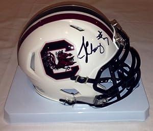 Jadeveon Clowney autographed South Carolina Gamecocks speed revolution mini helmet by Man+Cave+Pro+Memorabilia