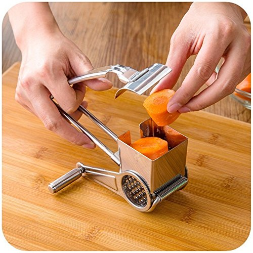 Hand Crank Kitchen Appliances: IBEET Cheese Grater Rotory With Container,18/8 Stainless