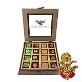 Chocholik - 16Pc Belgian Dark Chocolate With Ganesha Idol - Diwali Gifts
