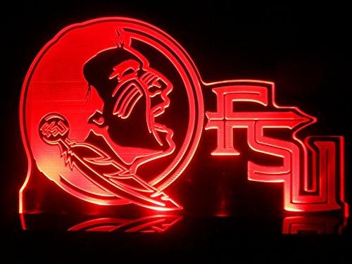 Fsu Florida State Seminoles University Football College Led Desk Lamp Night Lighting Bedroom Gameroom Signs front-424831
