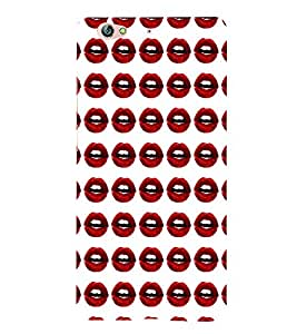 PrintVisa Corporate Print & Pattern Hot & Sexy Lips 3D Hard Polycarbonate Designer Back Case Cover for Gionee S6