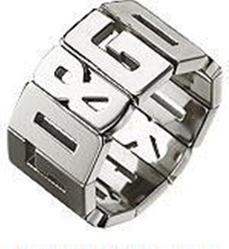 Dolce  &  Gabbana Jewels Ring OVERLAP DJ0537 DJ0538 DJ0540 DJ0542, Color: Silver-Coloured, Size: 16