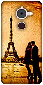 The Racoon Lean printed designer hard back mobile phone case cover for Letv Le 2. (Couple at)