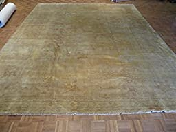 12 x 15 HAND KNOTTED CAMEL OUSHAK ORIENTAL RUG VEGETABLE DYES