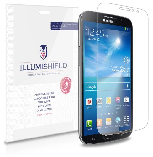 Illumishield - Samsung Galaxy Mega 6.3 Screen Protector Japanese Ultra Clear Hd Film With Anti-Bubble And Anti-Fingerprint - High Quality (Invisible) Lcd Shield - Lifetime Replacement Warranty - [3-Pack] Oem / Retail Packaging