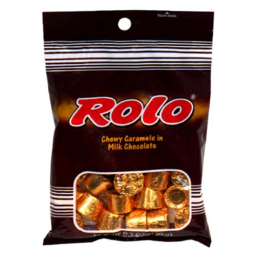 Rolo Chewy Caramels in Milk Chocolate, 5.3-Ounce Bags (Pack of 12)