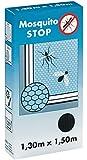 Mosquito Stop Fliegengitter inklusive Klettband, 1.3 x 1.5 m schwarz