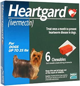 Heartgard Chewables Canine (Blue) - up to 25 lbs - 6 count