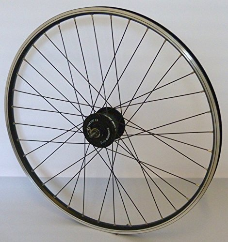 26 Zoll Fahrrad Laufrad Vorderrad Hohlkammerfelge CUT 19 Shimano Nabendynamo DH3N31 schwarz für V-Brakes / Felgenbremse