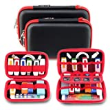 Electronics Accessories Case Hard Drive Travel Organizer - DDQ USB Flash Hard Drive Pouch Bag - Big
