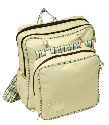 Minene 4 in 1 Changing Bag (Cream and Blue Stripes)