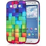 kwmobile Hülle TPU Silikon Case für Samsung Galaxy S3 / S3 Neo mit Regenbogen Design - Handy Cover Schutzhülle in Grün Pink