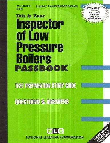 Inspector of Low Pressure Boilers (Career Examinations)