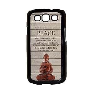 Buddha Peace Quote Galaxy S3 Case S III Case Samsung S3 Case I9300 Case