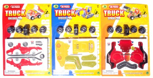 Best 3D Truck Puzzles For Kids Digger Car Unload Car And Spade Car Hot Stocking Stuffer Christmas Gift Ideas Boys Kids & Premium Party Favor -. Guaranteed To Please. (Trucks 3 Pack) front-1047404