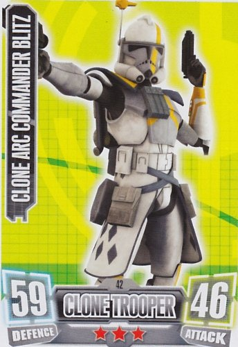Topps Force Attax serie 2 Card 42 CLONE ARC COMMANDER BLITZ (The Republic)