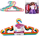 10 Kids Hangers Colourful Baby Wardrobe Clothes Organiser Hanger Space Saver Quality Plastic
