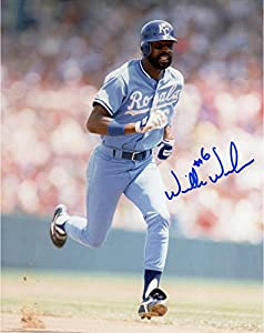 Willie Wilson Kansas City Royals Autographed 8'' x 10'' Running Photograph - Fanatics Authentic Certified