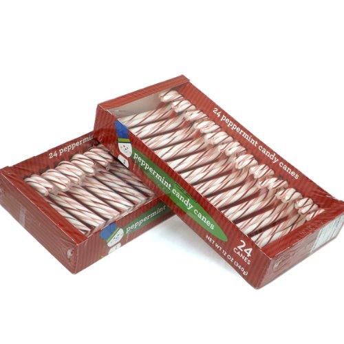 キャンディケーン(ペパーミント) 赤 24本 x 2箱 [ 並行輸入品]