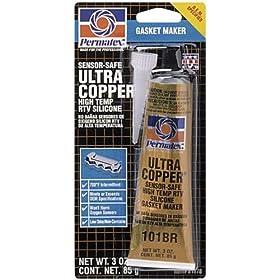 Permatex 81878 #101 Sensor Safe Ultra Copper Hi Temp RTV, 3 oz. Tube