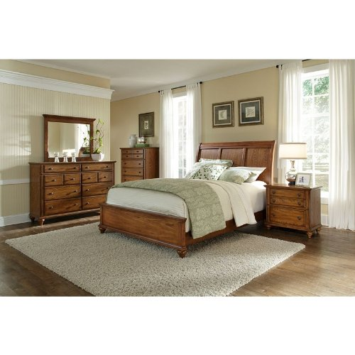 Broyhill hayden place sleigh bedroom set in golden oak 4645sbr bedroom furniture sets Broyhill master bedroom sets