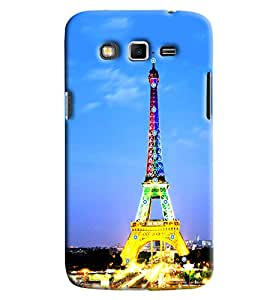 Clarks Eiffil Tower In Lights Hard Plastic Printed Back Cover/Case For Samsung Galaxy Grand 2