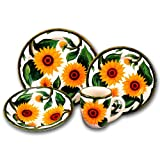 SUNFLOWER 16 pc Dinner Dish Set Dishes Dinnerware *NEW*!