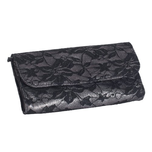 Daniela Metallic Fabric Jewelry Clutch