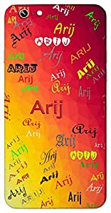 Arij (Fragrance Sweet Smell Pleasant) Name & Sign Printed All over customize & Personalized!! Protective back cover for your Smart Phone : Moto G-4-PLAY
