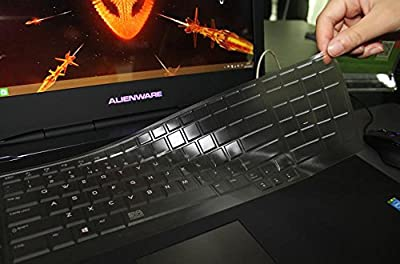TPU Clear Ultra Thin Keyboard Protector Cover Skin for 2013 Dell Alienware 18 (2013 version), Alienware 17 R2 R3(2015 version), Alienware M17(2015 version) Gaming Laptop