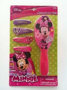 Amazon Com Minnie Mouse Bowtique Hair Brush Amp Barrettess