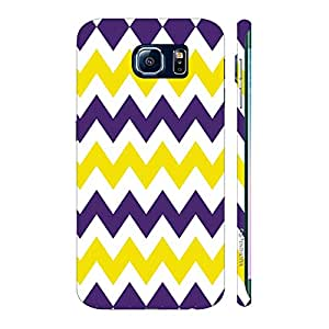 Enthopia Designer Hardshell Case CHEVRON YELLOW AND PURPLE Back Cover for Samsung Galaxy S7 Edge