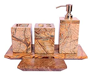 5 pieces set indian natural stone toilet bathroom bath set for Bathroom accessories for elderly in india