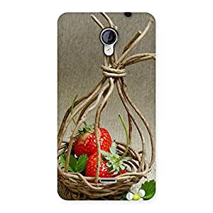 Straberry Basket Multicolor Back Case Cover for Micromax Unite 2 A106