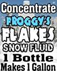 Concentrate Froggys Flakes Snow Juice Machine Fluid - Makes 1 Gallon Snow Formula: EXTRA DRY (30 Feet Float / Drop)