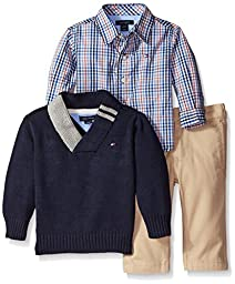 Tommy Hilfiger Baby-Boys Newborn Athur 3 Piece Set, Swim Navy, 6-9 Months