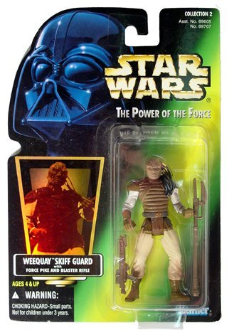 Star Wars Power of the Force II - Weequay Skiff Guard - Green Cardback Hologram - 1