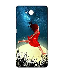 Mobifry Back Case Cover For Micromax Canvas Play Q355 (Printed Design)