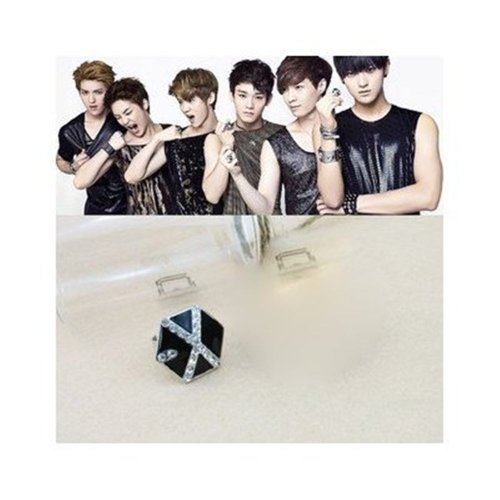 EXO RING FROM PLANET LU HAN KRIS RING BLACK LOGO