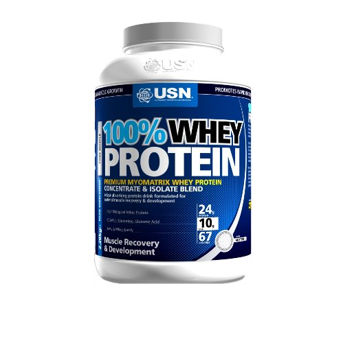 USN 100% Whey Protein 2280 g Vanilla Muscle Development and Recovery Shake Powder