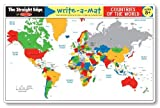 Melissa & Doug Write-A-Mat Countries of the World Placemat