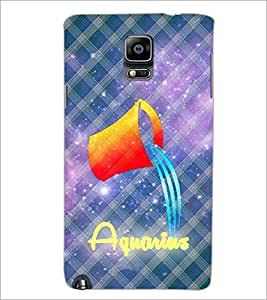 PrintDhaba Zodiac Aquarius D-3245 Back Case Cover for SAMSUNG GALAXY NOTE 3 (Multi-Coloured)