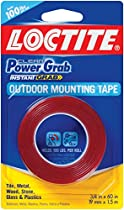 Loctite Clear Power Grab outdoor Mounting Tape 3/4 Inch by 60 Inch