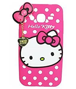 Aryamobi Hello Kitty Back Cover for Samsung Galaxy J2 (2016) - Pink