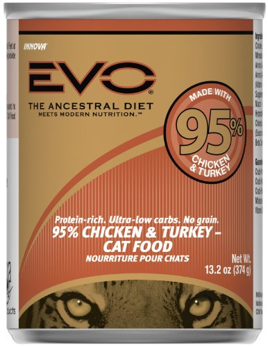 Evo Grain Free  Chicken And Turkey Canned Cat Food