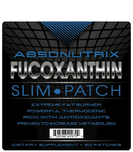 Absonutrix Fucoxanthin Slim Patches - 30 Patches - Extreme Fat Burner - Most Advanced Formula