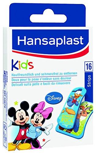 Hansaplast Junior Mickey Pflaster Kinder, 5er Pack (5 x 16 Stück)